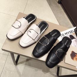Pretty2019 Star Cool Slipper Xiashushi Button Low Flat Bottom Ban Tuo Zapatos de mujer desde fabricantes