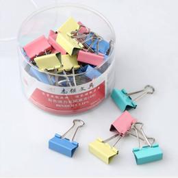 1Pc 19 millimetri colorato metallo Clip del raccoglitore Clip di carta cancelleria per ufficio di rilegatura Supplies colore casuale da cucina negozio fornitori