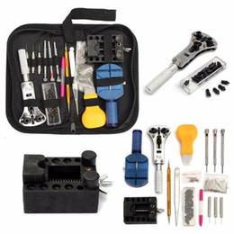 Tavoli utensili online-144pcs / Set di Strumenti di riparazione tabella di controllo Strumenti Orologio Repair Tool Kit Opener Pin di collegamento di rimozione della barra della molla Set Orologiaio