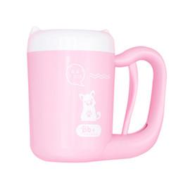 2019 reinigungsmittel für hunde Haustier Katze Hund Fuß sauber Tasse Reinigungswerkzeug Silikon Waschmaschine Französisch Bulldog Mops liefert Haustier Zubehör für Hunde Pink günstig reinigungsmittel für hunde