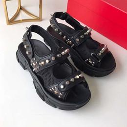Canada 2018 chaussures de mode nouvelles femmes sandales peep toe boucle métal talon épais talons hauts sandales femme sandalias chaussures de soirée à la mode femmes35-41 Offre