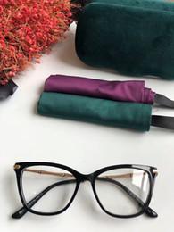 2019 di alta qualità G0576 occhiali frame plancia cat-eye metallo bambù design tempio 53-16-140 per occhiali da vista set completo caso all'ingrosso da