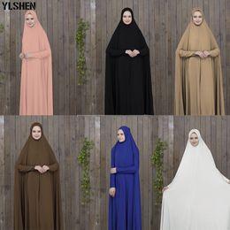 dubai islamic robe Rebajas Ramadán Abaya Dubai Vestido musulmán Ropa de oración Kaftán negro con túnicas Hijab Mujeres árabes Ropa islámicaTurquía Islam Elbise