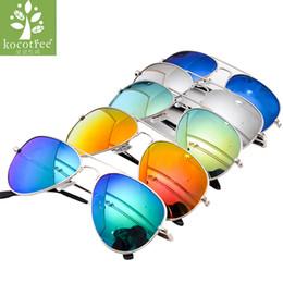 3bd31126c9 Moda para niños Gafas de sol de aviador Niños Niños Chicas Diseño clásico  Marco de plata Lente azul Piloto Gafas de sol para niños