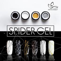 2019 chiodi di filo 8ml Nail Spider Gel Web Painting Nail art creativo Gel UV Wire Drawing Elasticity Punto Line Soak Off Spider Varnish sconti chiodi di filo