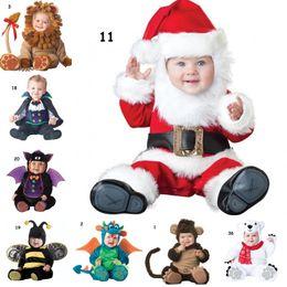 2019 ropa de pinguino Bebé Disfraces de Navidad de Halloween Infantil de dibujos animados Pavo real Murciélago Araña Oso polar Pingüino Monos Animal Cosplay Niños pequeños Ropa rebajas ropa de pinguino
