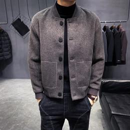 0a189762c Wool scarf men s online shopping - Winter New Wool Jacket Warm Fashion Slim  Casual Coat