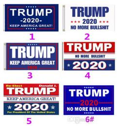 2019 confeti de plata al por mayor Ventas calientes 5 estilos Trump 2020 Flag Donald Trump Flag Keep America Great Donald for President Campaign Banner 90 * 150cm Banderas de jardín