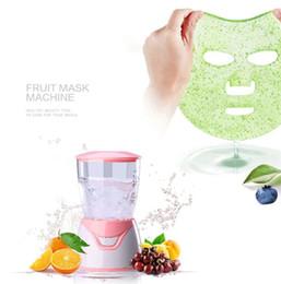 Maquinas faciales de salon online-Máquina de máscara de frutas Máquina de máscara facial Máquina de tratamiento facial DIY Automática Fruta Natural Vegetal Colágeno Uso en el hogar Salón de belleza Cuidado SPA
