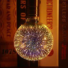 lustre de cristal dc Desconto Lâmpada LED Decoração 3D E27 6W 110-240V Holiday Lights ST64 G95 G80 G125 A60 novidade Natal Lâmpada Lamparas