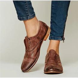 Классическая Обувь Женщины Урожай Толстый Низкий Каблук Осень Оксфорды Новый Плюс Размер Дамы Скольжения На Высокое Качество Pu Повседневная Женская Мода Обувь от