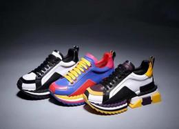 moda de luxo Sorrento sapatilha dos homens Designer de sapatos tecido stretch Jersey Deslizamento-na sapatilha Senhora de dois tons de borracha Micro Sole Casual Shoes de