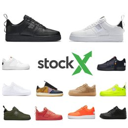 huaraches rosa azul negro Rebajas Nike Air Force 1 AF1 Just do it Stock X Cheap High Low Cut utility black 1 Running Shoes Classic Men Women Skateboarding 1s White Wheat Trainer sports Designer Sneakers