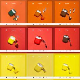 dulces de manzana Rebajas Funda de silicona para camote para Apple Airpods Accesorios para auriculares Bluetooth Auricular con decoración especial Funda para bolsa con llavero