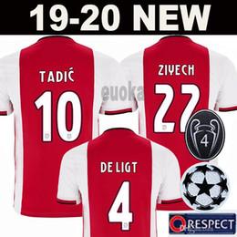 ec0d806d3a2 pullover patch Sconti CH patch versione Ajax casa rosso bianco Soccer  Jerseys 19 20 bambini
