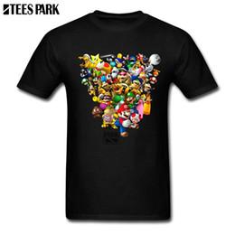 mario bros vidéos Promotion Son et ses t-shirts Mario Bros All Star jeu vidéo T-shirts ajustés T-shirt Homme T-shirt en Coton à Manches Courtes Populaire Adolescent à Personnaliser
