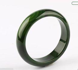 Canada Koraba Fine Jewelry Belle Naturel Vert Foncé Calcédoine De Glace À La Main Polonaise Bracelet Livraison Gratuite Offre