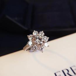 2019 printemps nouvelle édition limitée européenne et américaine de la mode sun flower bague en or blanc sertie de diamants, idéale pour les vacances ? partir de fabricateur