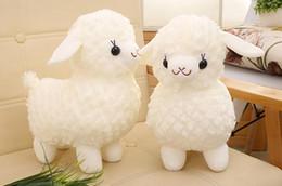 2019 erba delle bambole Nuovo simpatico peluche bianco bambola di alpaca, animale erba fango cavallo bambola di stoffa famiglia creativa piccolo regalo erba delle bambole economici