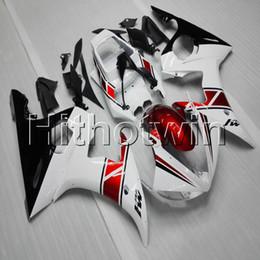 2019 kit de carreras gsxr 23colors + carenado de la motocicleta blanca roja Botls para Yamaha 03 05 YZFR6 2003 2004 2005 YZFR6 carrocería carenado plástico ABS