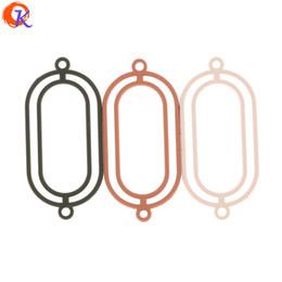 Achar conector de jóias on-line-Atacado 100 Pcs 16 * 35 MM Jóias Acessórios / Brinco Fazendo / Forma Anel Oval / DIY / Feitas À Mão / Brinco Conector / Brinco Encontrar