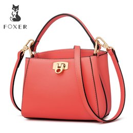 foxer brand handbags Promo Codes - FOXER Brand 2019 New Fashion Female Chic Handbag Female Elegant Totes for Sexy Lady Women High Quality Shoulder Bags