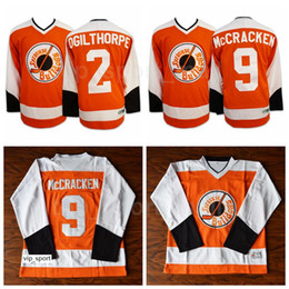 maglia di tiro Sconti Syracuse Bulldogs 2 Ogie Ogilthorpe Jersey Slap Shot SlapShot Movie Hockey su ghiaccio 9 Tim Dr Hook McCracken Maglie Squadra Colore Arancione Vendita calda