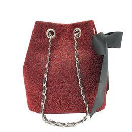 Gute qualität Frauen Tasche Bunte Pailletten Cross Body String Kleinen Bogen Frauen Messenger Bags Eimer Handtaschen Bogen Umhängetasche von Fabrikanten