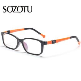 Kinder cartoon gläser rahmen online-Student Brillengestell Kinder Kinder Cartoon Verschreibungspflichtige Myopiebrillen Optische Brillen Rahmen Für Baby BoysGirls YQ109