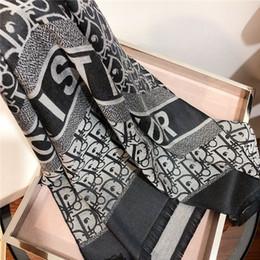 Новый модный бренд шарф высокого качества хлопковый шарф Tencel дизайнер окрашенный пряжей жаккардовый платок шарф 180 * 70 см для мужчин и женщин от