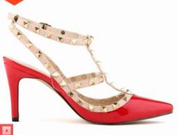 Canada Sandales à coutures creuses sexy avec talons pointus Rivets chaussures pour femmes avec talons hauts talons hauts cheap medium heels wedding shoes Offre