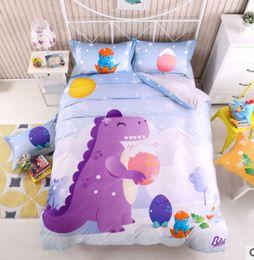 volle krippe bettwäsche setzt Rabatt Nette Jungenmädchenkinderkinderbettwäschesätze with160x210 * 200x230 * 4 + 4 Stücke reine Baumwollsteppdeckenkissen-Bettdecken Qualität für Kind