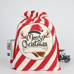 diseñador de alta calidad bolsos amarillos Rebajas 36 estilos Bolsas de regalo de Navidad Papá Noel Viga de protección ambiental Bolsa de lona 50 * 70 cm Bolsas de regalo de Navidad personalizado alces caramelo M132