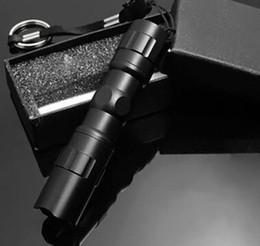 2019 caja de luz de aluminio led Al por mayor-LED Linterna Antorchas Senderismo Camping LED mini linternas linterna de aleación de aluminio linterna a prueba de agua con caja de regalos rebajas caja de luz de aluminio led