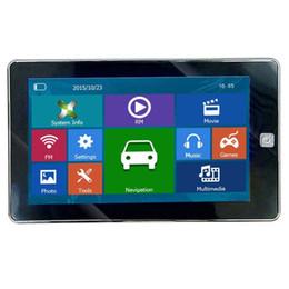 Navegação gps gps on-line-HD Anti-reflexo de 7 polegada Navegação GPS Navegador Do Carro Navi Truck Bluetooth Mãos Livres AVIN GPS MP4 FM Transmissor 8 GB 3D TTS Mapas