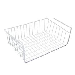 Melhor espaço de armazenamento sob a cesta de prateleira para armazenamento armário de cozinha armário - branco de