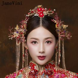 2019 accessoire de cheveux rouge de mariage chinois  accessoire de cheveux rouge de mariage chinois pas cher