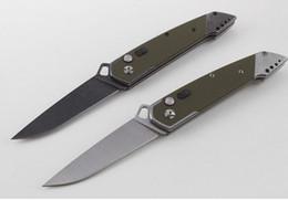 cuchillos de tiburon Rebajas Tiger shark AUS-8 blade piedra lavado de una sola acción táctica que acampa colección de caza cuchillos plegables cuchillo de regalo de navidad C50