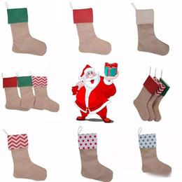 Noel Tuval Çorap Hediye Çantası Çorap 30 * 45 cm Noel Ağacı Dekorasyon Çorap Noel Çorap 9 Stilleri yılbaşı hediyeleri çocuk oyuncakları nereden yuvarlak düğün masa örtüleri tedarikçiler