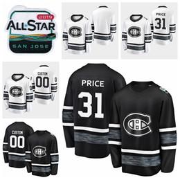 Лучшие цены на хоккейный джерси онлайн-2019 Все Звезды Игры Кэри Цена Настроить Монреаль Канадиенс Хоккей Трикотажные Изделия Черный Белый Джерси #31 Кэри Цена Сшитые Рубашки Лучшее Качество
