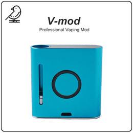 ss dual battery mod Desconto V-MOD Mod Vaping Vaping Mod 900 mAh Bateria Vape Mod VMOD Pré-aqueça Tensão Variável 510 Rosca Vape Box Mod Para Cartuchos de óleo de Espessura