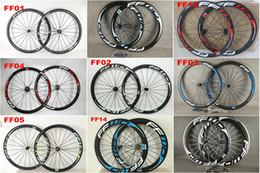 Strade della porcellana online-Porcellana Oem FFWD 50mm Carbon Road Wheel Wheelset copertoncino / tubolare Matte / lucido bici Wheelset molti colori
