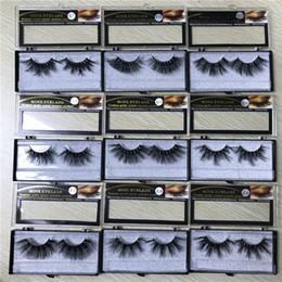 25 mm de largo 6D pestañas falsas de cabello de visón para hacer la versión de alargamiento de pestañas a mano con caja 15style desde fabricantes
