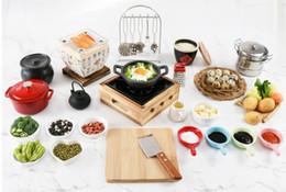 Brinquedos reais japoneses on-line-Mini cozinha cozinhar cozinhar real Definir Japanese Food Jogando Mini Louça Cozinhar Utensílios de Cozinha Crianças Início Brinquedos 091