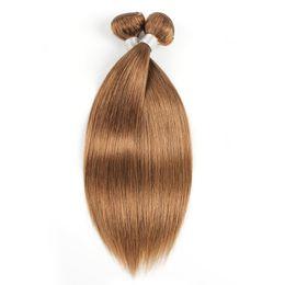 Cheveux malais vierges mous blancs en Ligne-# 30 Bundles de cheveux raides dorés bruns brésiliens péruviens malaisiens indien vierge remy extensions de cheveux humains 1 ou 2 faisceaux 16-24 pouces