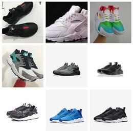 4d71fc60de 2019 Huarache Ultra 1.0 4.0 PK4 walking shoes 4 IV 1s Run sole Triple Black  white red Grey Rainbow Harache Sneaker Sport trainer
