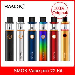 2019 ijust2 kit de iniciação Original SMOK Vape caneta 22 Kit de Início com construído em 1650 mAh kit vape bateria cigarro Eletrônico e cig kit E-cigarro Dhl
