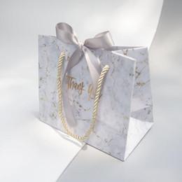 bolsas de regalo de boda para invitados Rebajas 10 piezas de mármol creativo estilo europeo bolsa de regalo caja de regalo de boda le da a la novia favores de boda y bolsas de dulces para invitados