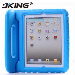 tampa do ipad da prova do choque dos miúdos Desconto Portátil Safe Kids Foam Choque Handle Proof EVA Tampa Stand Case para iPad mini-1234 2/3/4 Air 5 6 Pro grátis
