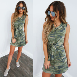 20b3e3a1c0088 Hot selling spring and summer dresses women long shirt Camouflage printed  short dress sexy round neck tied knot waist womens clothes sexy camouflage  shirts ...